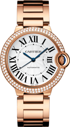 Cartier Ballon Bleu 18K Pink Gold & Diamonds Lady's Watch WJBB0005