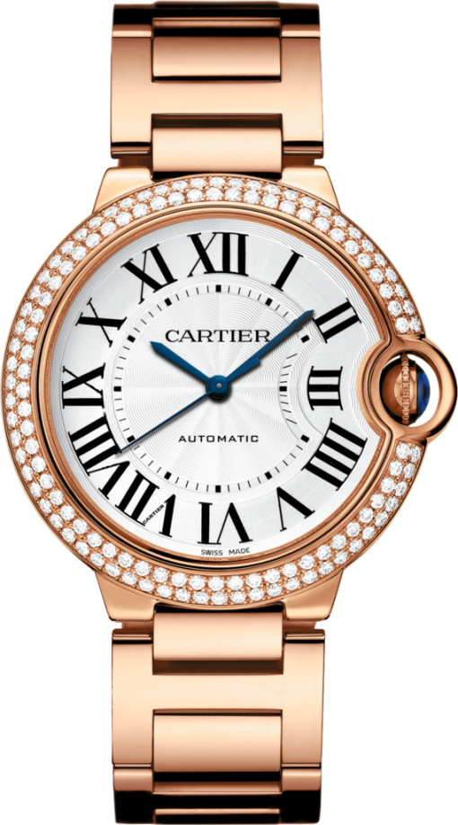 Cartier Ballon Bleu 18K Pink Gold & Diamonds Lady's Watch, WJBB0005