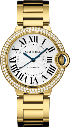 Cartier Ballon Bleu 18K Yellow Gold & Diamonds Lady's Watch WJBB0007