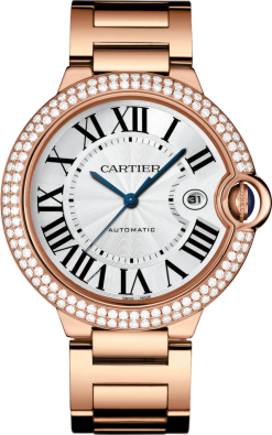 Cartier Ballon Bleu 18K Pink Gold & Diamonds Unisex Watch WJBB0029