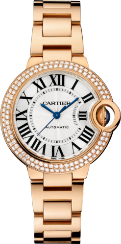 Cartier Ballon Bleu 18K Pink Gold & Diamonds Lady's Watch WE902064