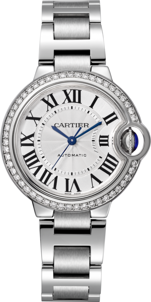 Cartier Ballon Bleu Stainless Steel & Diamonds Lady's Watch, W4BB0016