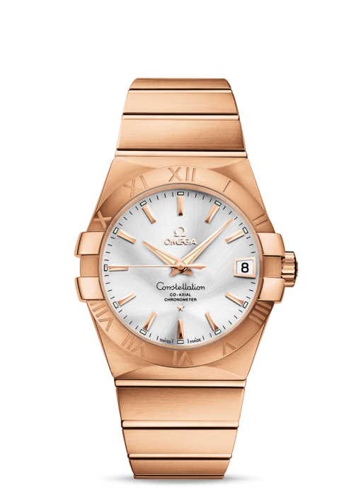 Omega Constellation Co-Axial 18K Red Gold Unisex Watch, 123.50.38.21.02.001