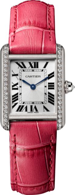 Cartier Tank Louis 18K White Gold & Diamonds Ladies Watch WJTA0011