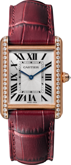 Cartier Tank Louis 18K Pink Gold & Diamonds Ladies Watch WJTA0014