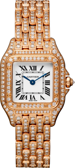 Cartier Panthère 18K Pink Gold & Diamonds Ladies Watch HPI01131