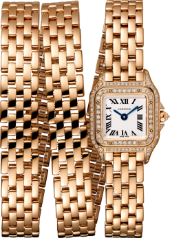 Cartier Panthère 18K Pink Gold & Diamonds Ladies Watch WJPN0013