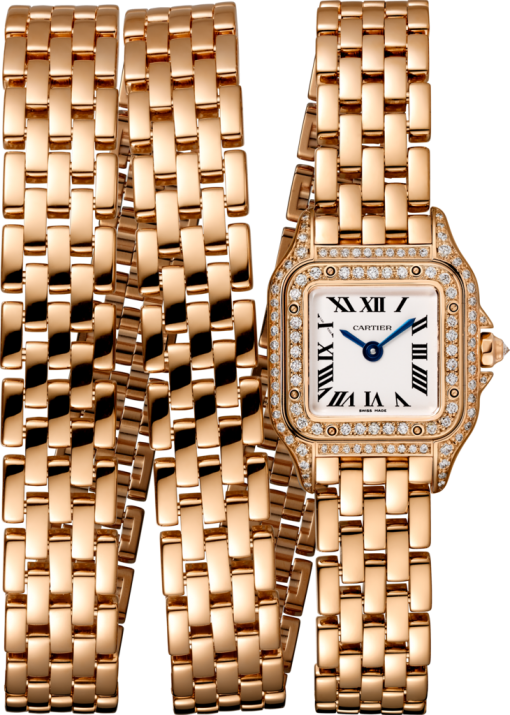 Cartier Panthère 18K Pink Gold & Diamonds Ladies Watch, WJPN0013