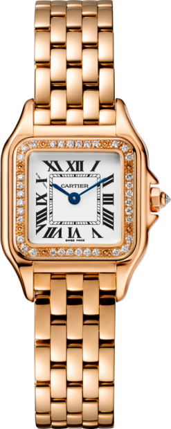 Cartier Panthère 18K Pink Gold & Diamonds Ladies Watch WJPN0008
