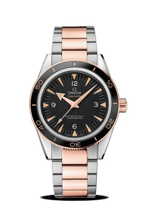 Omega Seamaster 300 Co-Axial Master 18K Sedna™ Gold & Stainless Steel Men's Watch, 233.20.41.21.01.001
