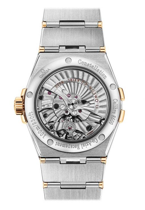Omega Constellation Co-Axial 18K Yellow Gold & Stainless Steel & Diamonds Unisex Watch, 123.20.38.21.02.002 3