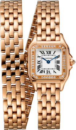 Cartier Panthère 18K Pink Gold & Diamonds Ladies Watch WJPN0014