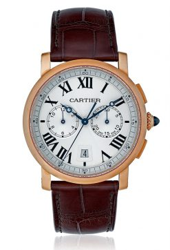 Cartier Rotonde Chronograph 18K Pink Gold Men's Watch W1556238