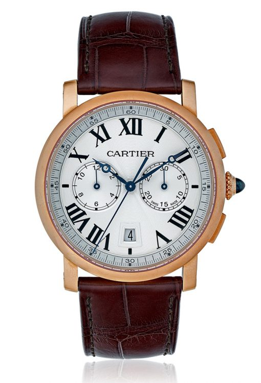 Cartier Rotonde Chronograph 18K Pink Gold Men's Watch, W1556238