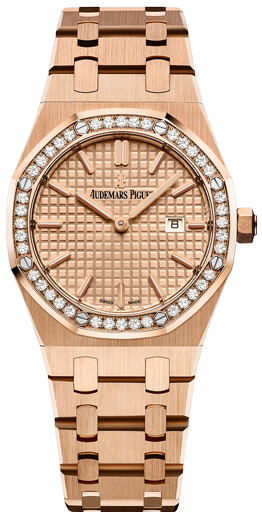 Audemars Piguet Royal Oak Quartz Rose Gold Ladies Watch, 67651OR.ZZ.1261OR.03