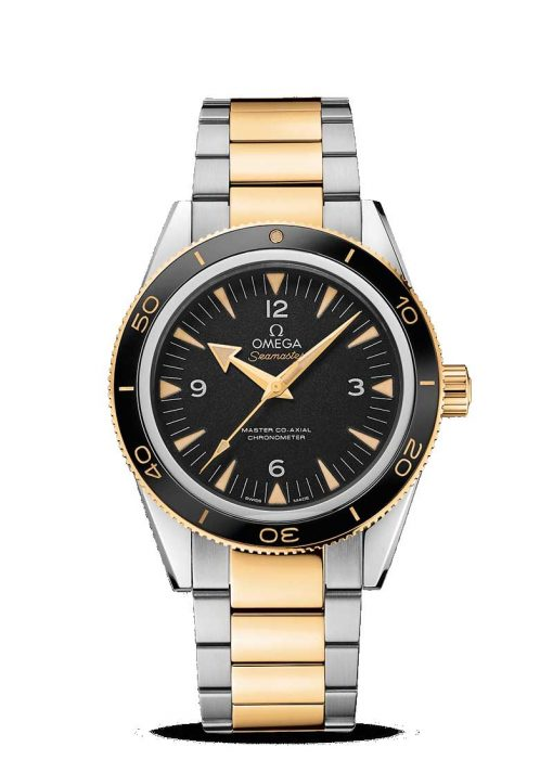 Omega Seamaster 300 Master Co-Axial Stainless Steel & 18K Yellow Gold Men's Watch, 233.20.41.21.01.002