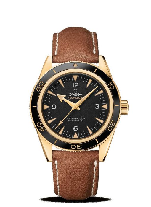 Omega Seamaster 300 Master Co-Axial 18K Yellow Gold Men's Watch, 233.62.41.21.01.001