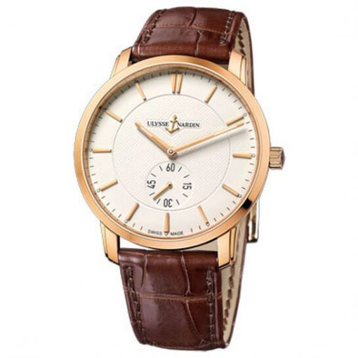 Ulysse Nardin Classico 18K Rose Gold Unisex Watch, preowned.8206-118-2/31