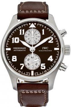 IWC Pilot's Chronograph Antoine De Saint Exupery Stainless Steel Men`s Watch preowned.IW387806