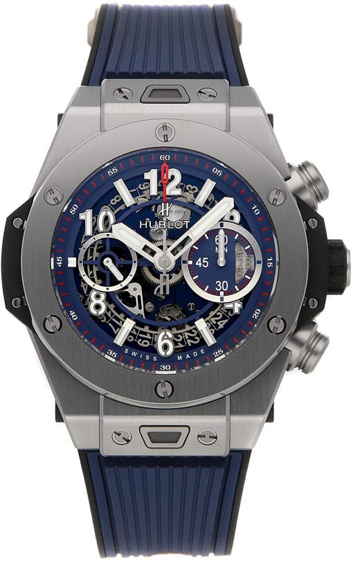 Hublot Big Bang Unico Blue Titanium Men's Watch, 411.NX.5179.RX