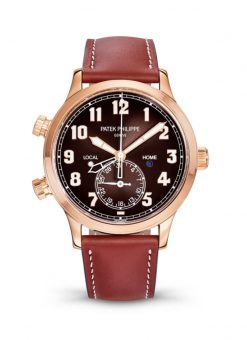Patek Philippe Complications Calatrava Pilot Travel Time 18K Rose Gold Men's Watch 5524R-001