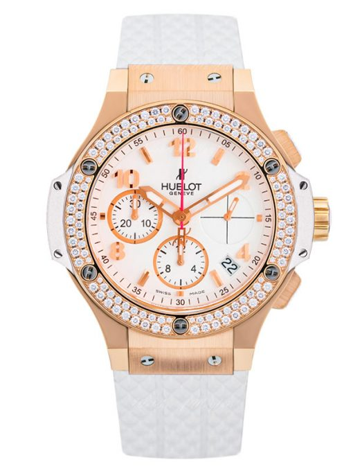 Hublot Big Bang Portocervo 18K Rose Gold & Diamond Ladies Watch, preowned.341.PE.230.RW.114