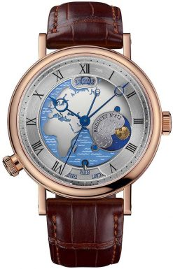 "Breguet Classique Hora Mundi ""Europe"" 18K Rose Gold Men's Watch 5717BR/EU/9ZU"