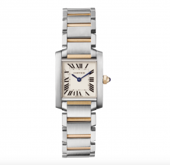 Cartier Tank Francaise Small Model 18K Yellow Gold Stainless Steel Lady's Watch W51007Q4