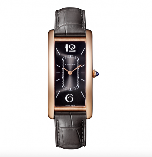 Cartier Tank Cintree 18K Pink Gold Men's Watch, WGTA0025