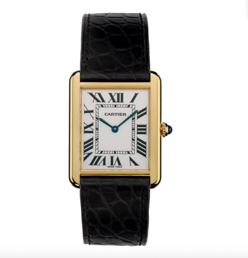 Cartier Tank Solo 18K Yellow Gold Stainless Steel Watch, W5200004