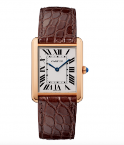 Cartier Tank Solo 18K Pink Gold Stainless Steel Watch W5200025