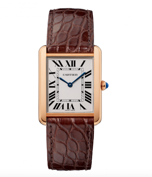 Cartier Tank Solo 18K Pink Gold Stainless Steel Watch, W5200025