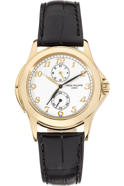Patek Philippe Travel Time 18K Yellow Gold Men's Watch, preowned.5134J