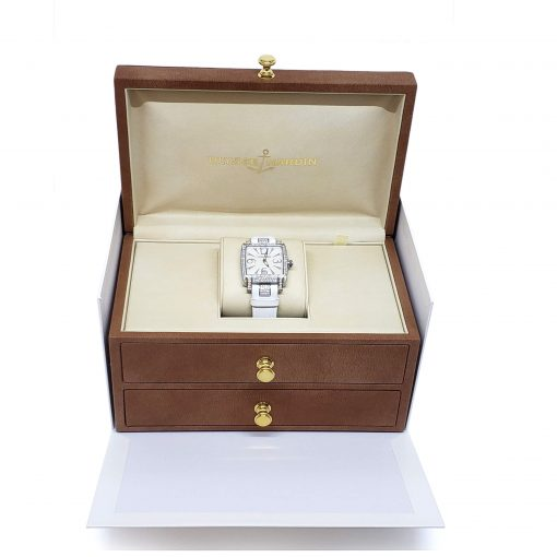 Ulysse Nardin Caprice White Stainless Steel Diamond Lady's Watch, pre-owned 133-91AC/691 9