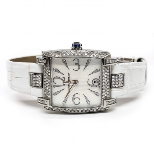 Ulysse Nardin Caprice White Stainless Steel Diamond Lady's Watch, pre-owned.133-91AC/691 7