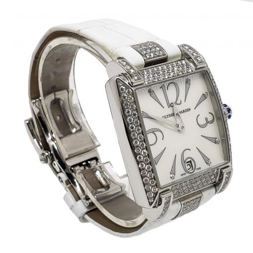 Ulysse Nardin Caprice White Stainless Steel Diamond Lady's Watch, pre-owned.133-91AC/691 5