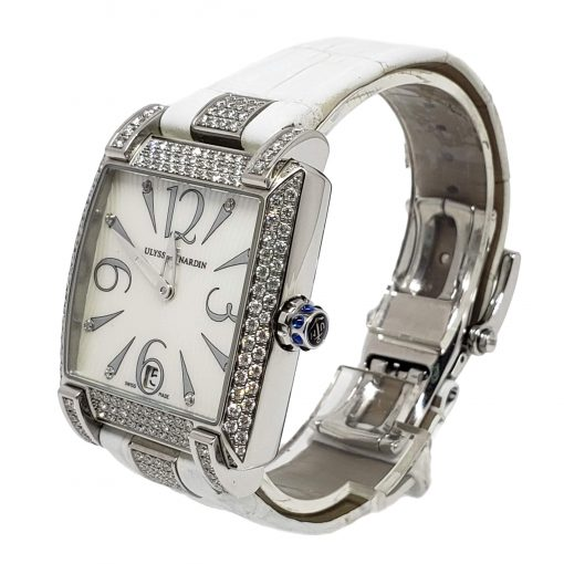 Ulysse Nardin Caprice White Stainless Steel Diamond Lady's Watch, pre-owned.133-91AC/691 3