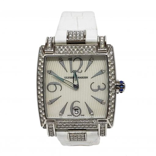 Ulysse Nardin Caprice White Stainless Steel Diamond Lady's Watch, pre-owned.133-91AC/691 2