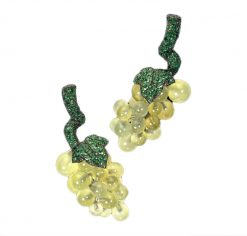 De Grisogono Grapes Earrings with White Gold, Pranites and Emerald, 15412/02 15412/02