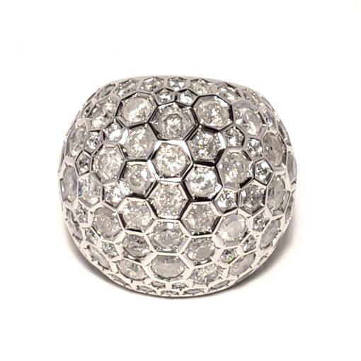 De Grisogono Boule Ring With White Gold And Diamonds, 59502/01-SPE 11