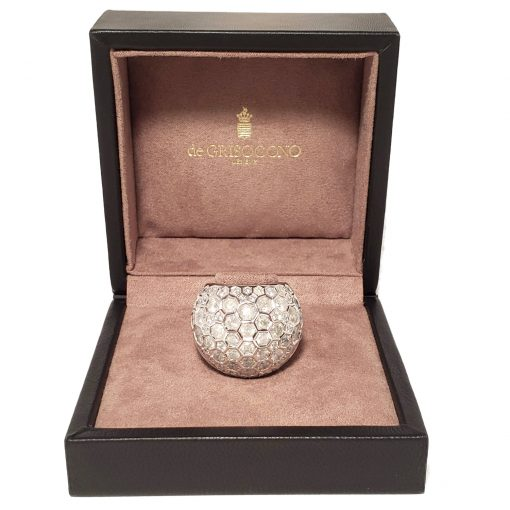 De Grisogono Boule Ring With White Gold And Diamonds, 59502/01-SPE 2