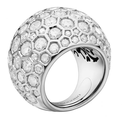 De Grisogono Boule Ring With White Gold And Diamonds, 59502/01-SPE