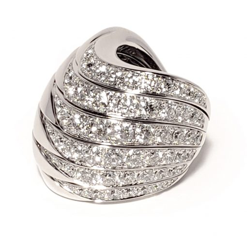 De Grisogono Zebra Ring With White Gold And Diamonds, 53901/01 10