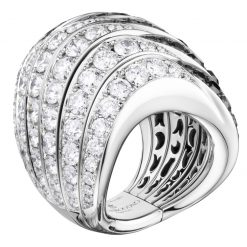 De Grisogono Zebra Ring With White Gold And Diamonds 53901/01