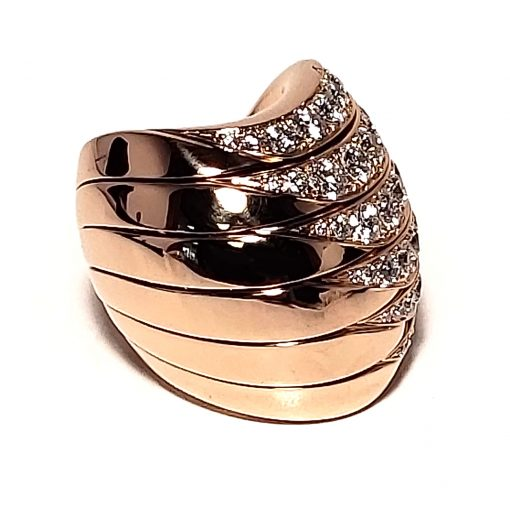 De Grisogono Zebra Ring With Rose Gold And Diamonds, 53901/04 13