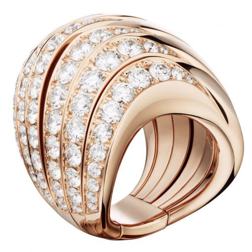 De Grisogono Zebra Ring With Rose Gold And Diamonds, 53901/04