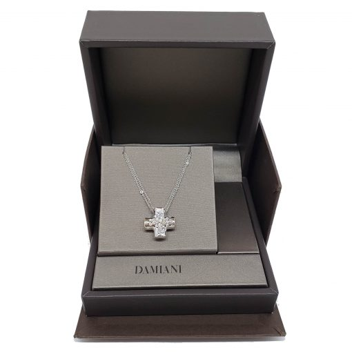 Damiani Paradise Collection Cross Pendant With 18k White Gold And Diamonds, 20042014 8