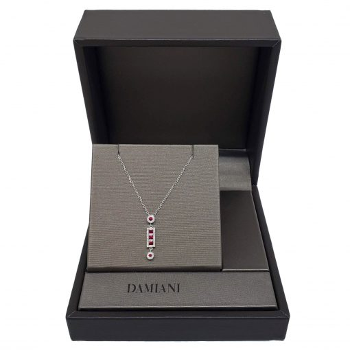 Damiani Belle Epoque Pendant With 18K White Gold, Diamonds and Rubies, 20056264 6