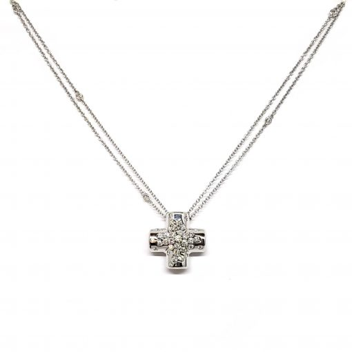 Damiani Paradise Collection Cross Pendant With 18k White Gold And Diamonds, 20042014