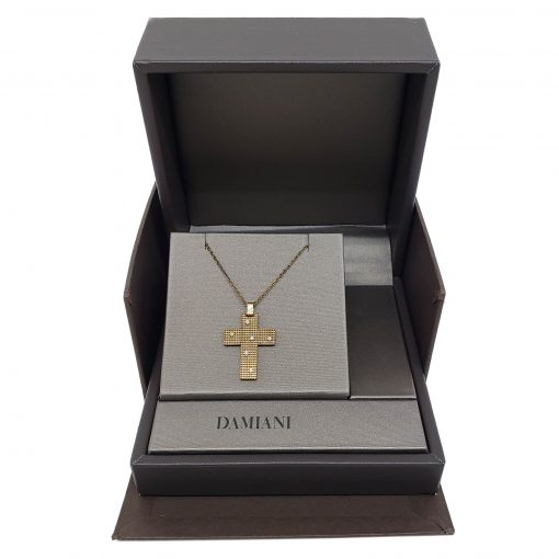 Damiani Metropolitan Dream Cross Pendant, 18K Blackened Gold And Diamonds, 20038930 5
